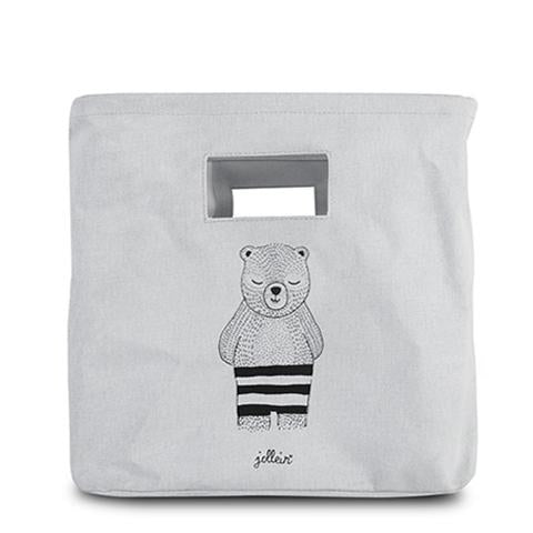 Canvas Basket Wild Animals Grey Bear