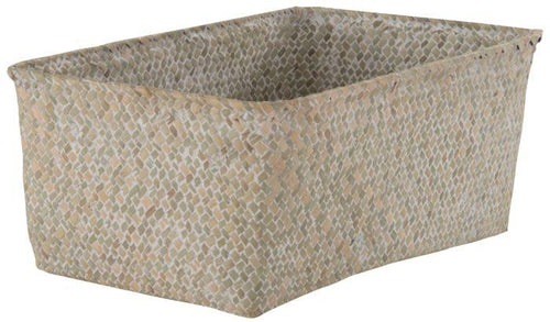 Beige Wash Rush Basket
