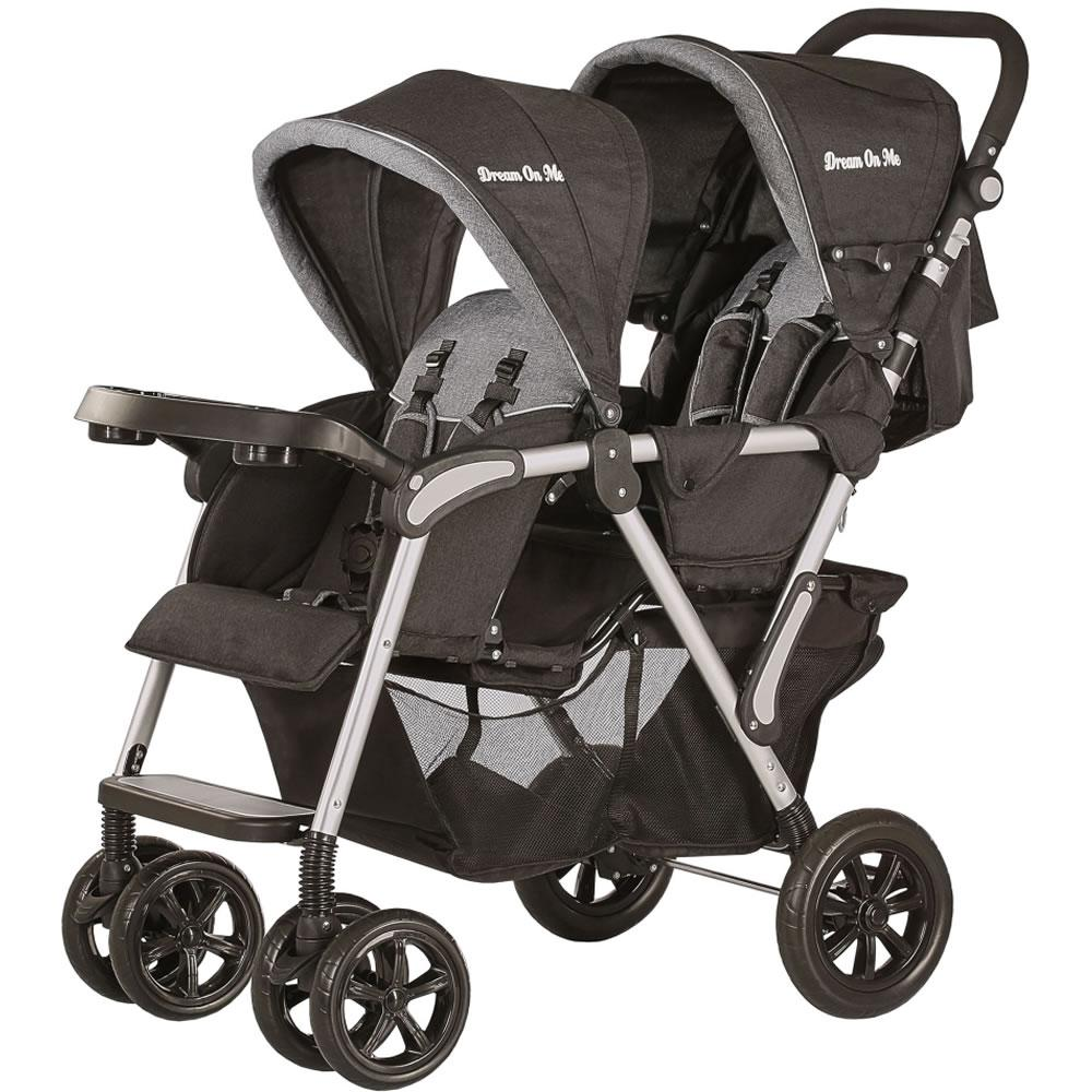 Dream On Me Villa Tandem Stroller - Grey