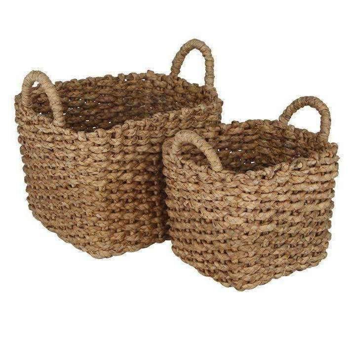 Natural Square Storage Baskets (Set of 2)