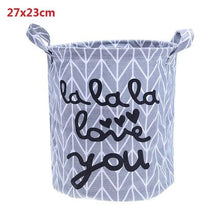 Load image into Gallery viewer, 1 Pc Cotton Linen Laundry Storage Basket Dirty Clothes Toys Organizer Barrel Home Storage Toys Underwear
