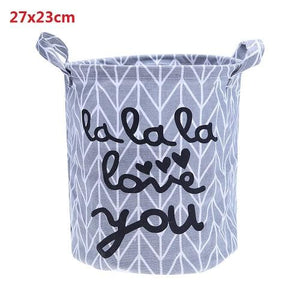 1 Pc Cotton Linen Laundry Storage Basket Dirty Clothes Toys Organizer Barrel Home Storage Toys Underwear