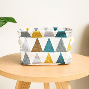 1 Pc Fordable Colors Storage Bin Closet Toy Box Container Organizer Fabric Basket Home Desktop Bags