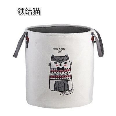 High-Grade Cartoon Folding Canvas Dirty Clothes Basket Children Toy Storage Bucket Bedquilt And Magazines Storage Box Organizer