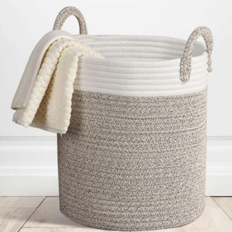 Rope Hamper Clothing Storage Basket