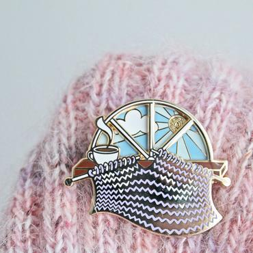 Enamel Pin - Knitting Day & Night