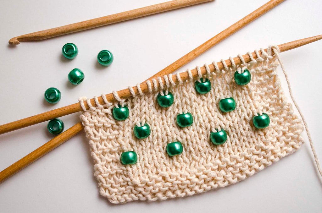 How to add beads to Knitting