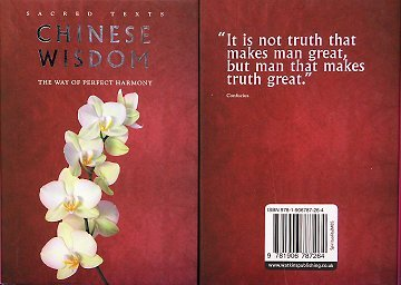 CHINESE WISDOM (SACRED TEXTS SERIES)