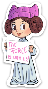 THE FORCE IS WITH US-Vinyl Sticker