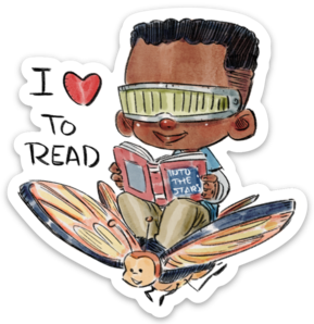 I LOVE TO READ-Vinyl Sticker
