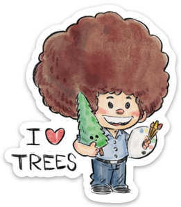 I LOVE TREES-Vinyl Sticker