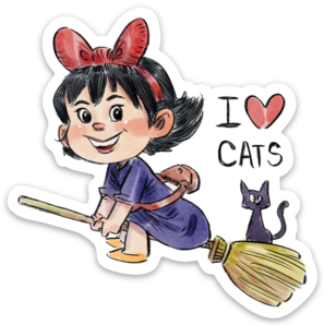 I LOVE CATS-Vinyl Sticker