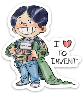 I LOVE TO INVENT-Vinyl Sticker