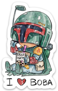 I LOVE BOBA-Vinyl Sticker