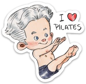 I Love Pilates-Vinyl Sticker
