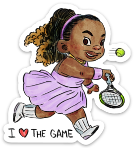 I Love The Game-Vinyl Sticker