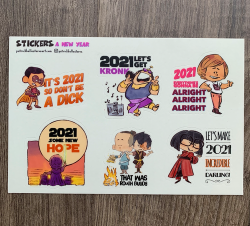 2021 A NEW YEAR-Sticker Set