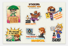 Load image into Gallery viewer, TEACHERS RULE-Sticker Set