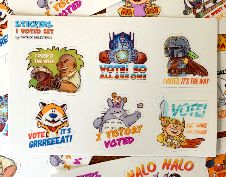 I VOTED-Sticker Set
