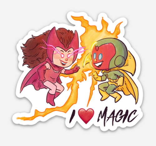 I ❤️  MAGIC-Regular Sticker