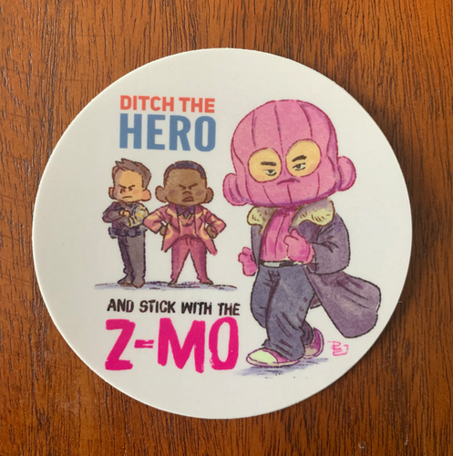STICK WITH THE Z-MO-Circle Sticker
