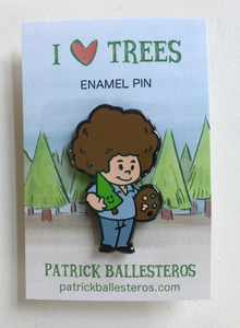 """I LOVE TREES"" Enamel Pin"