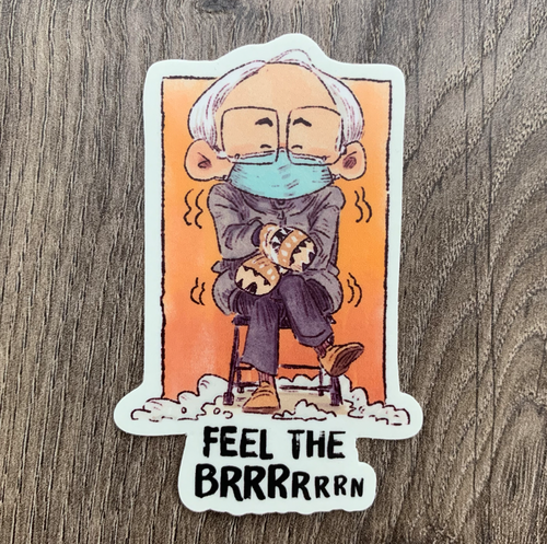 FEEL THE BRRRN-Sticker