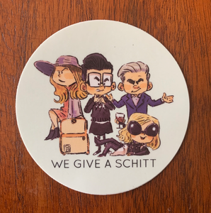 WE GIVE A SCHITT-Circle Sticker