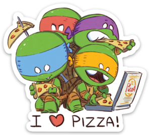 I LOVE PIZZA-Vinyl Sticker