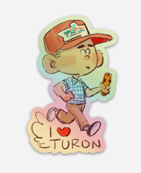 I LOVE TURON-sticker