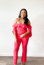 Load image into Gallery viewer, Red Rose Jumpsuit