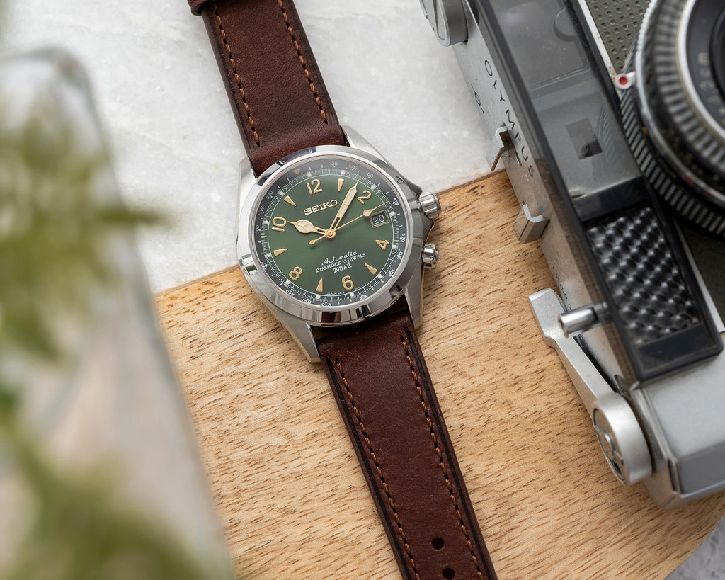 Dryden Watch Company 20mm 22mm Quick Release Italian Vegetable Tanned  Pueblo Leather Strap Brown