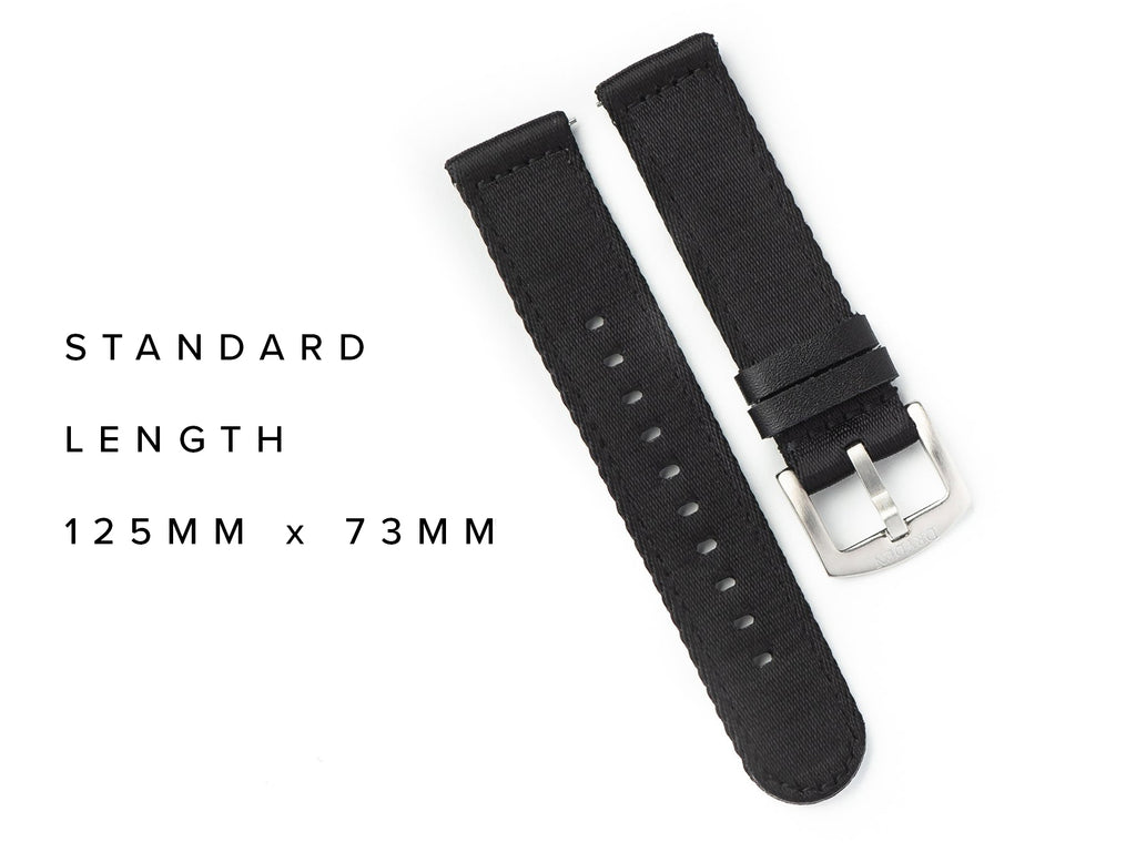 Dryden Two Piece Quick Release Nylon Strap - Black
