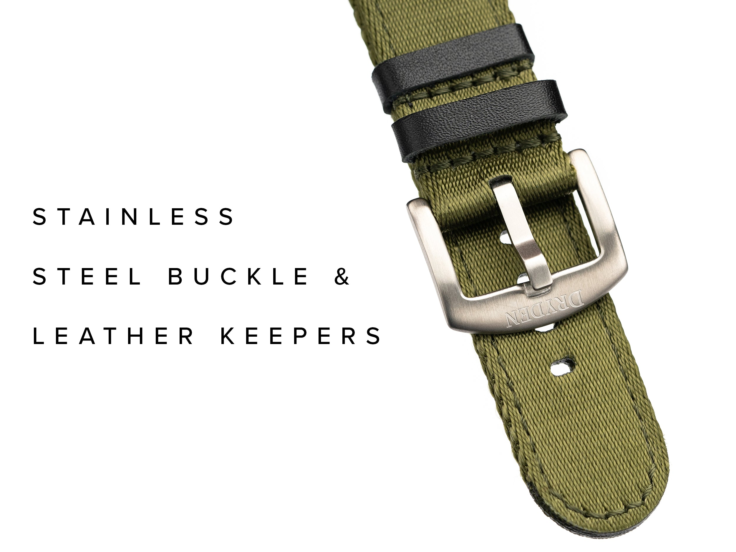 Dryden Two Piece Quick Release Nylon Strap - Green