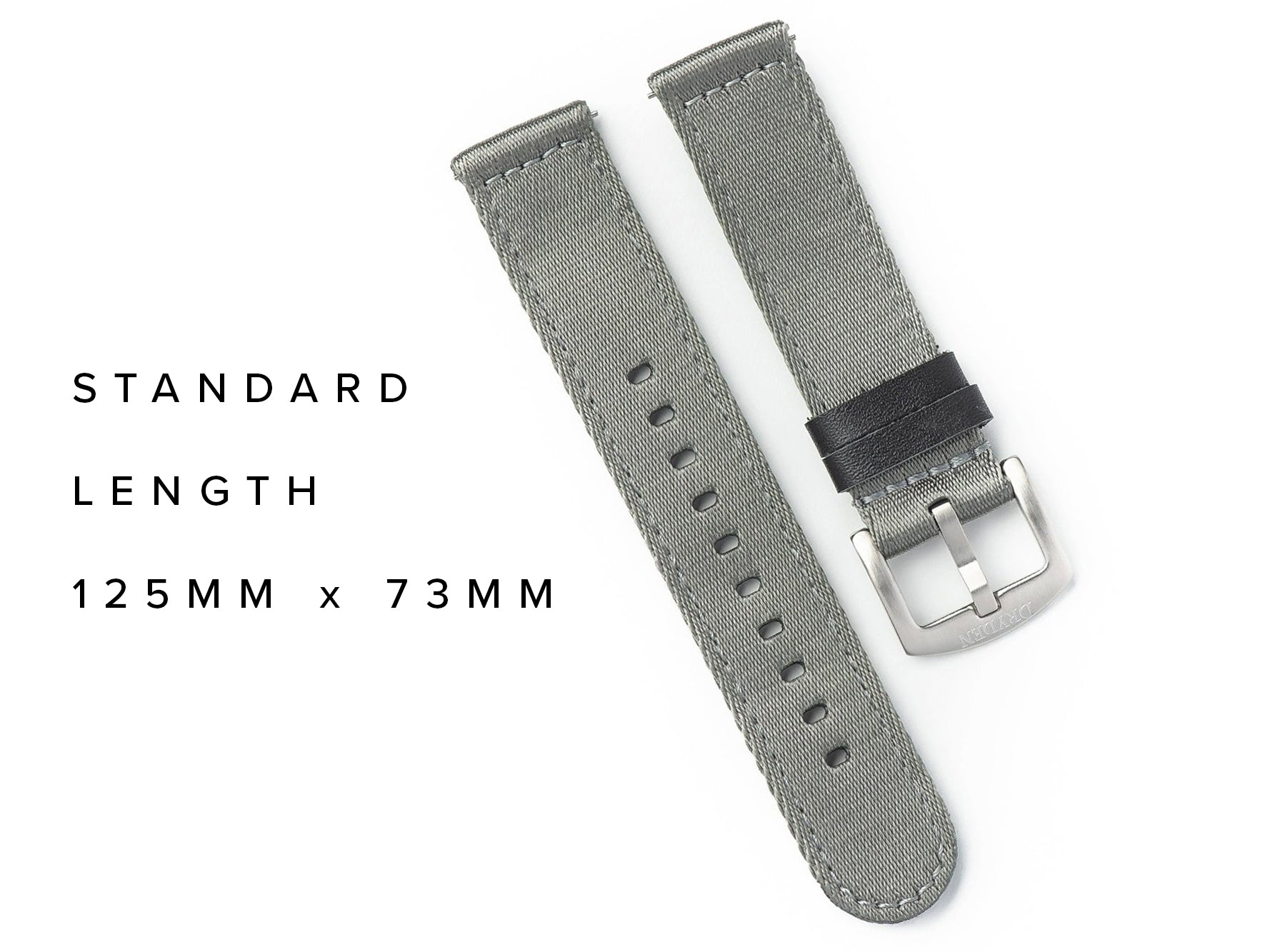 Dryden Two Piece Quick Release Nylon Strap - Grey
