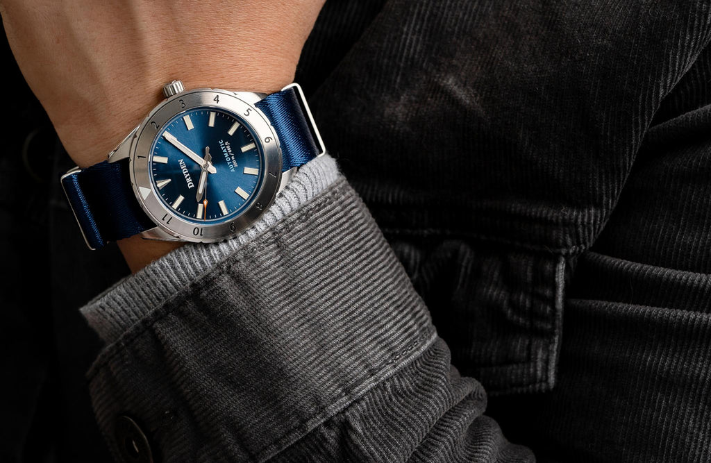Dryden Pathfinder Automatic Diver Midnight Blue Wrist Shot