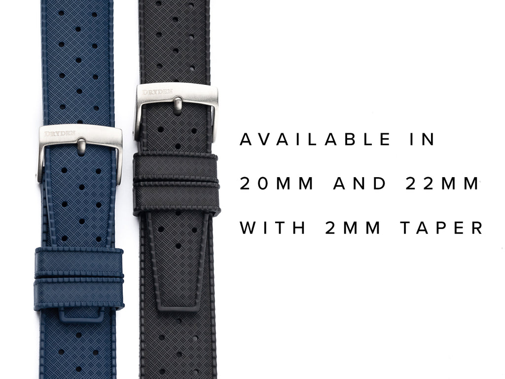 Blue and Black Tropic Rubber FKM Watch Strap
