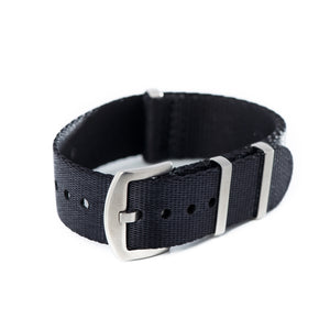 20mm 22mm Premium Seat Belt Nylon NATO Watch Strap - Black