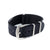Premium Seat Belt Nylon Watch Strap - Black