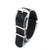 Premium Seat Belt Nylon Watch Strap - Black Grey