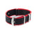 Premium Seat Belt Nylon Watch Strap - Black Red