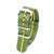 Premium Seat Belt Nylon Watch Strap - Green Yellow