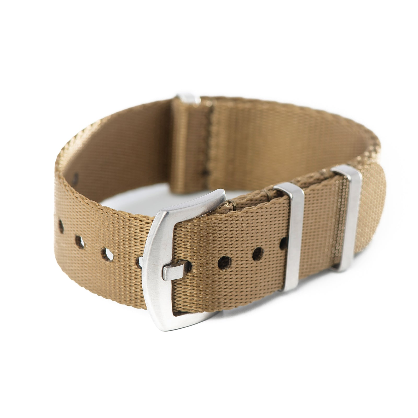 20mm 22mm Premium Seat Belt Nylon NATO Watch Strap - Khaki