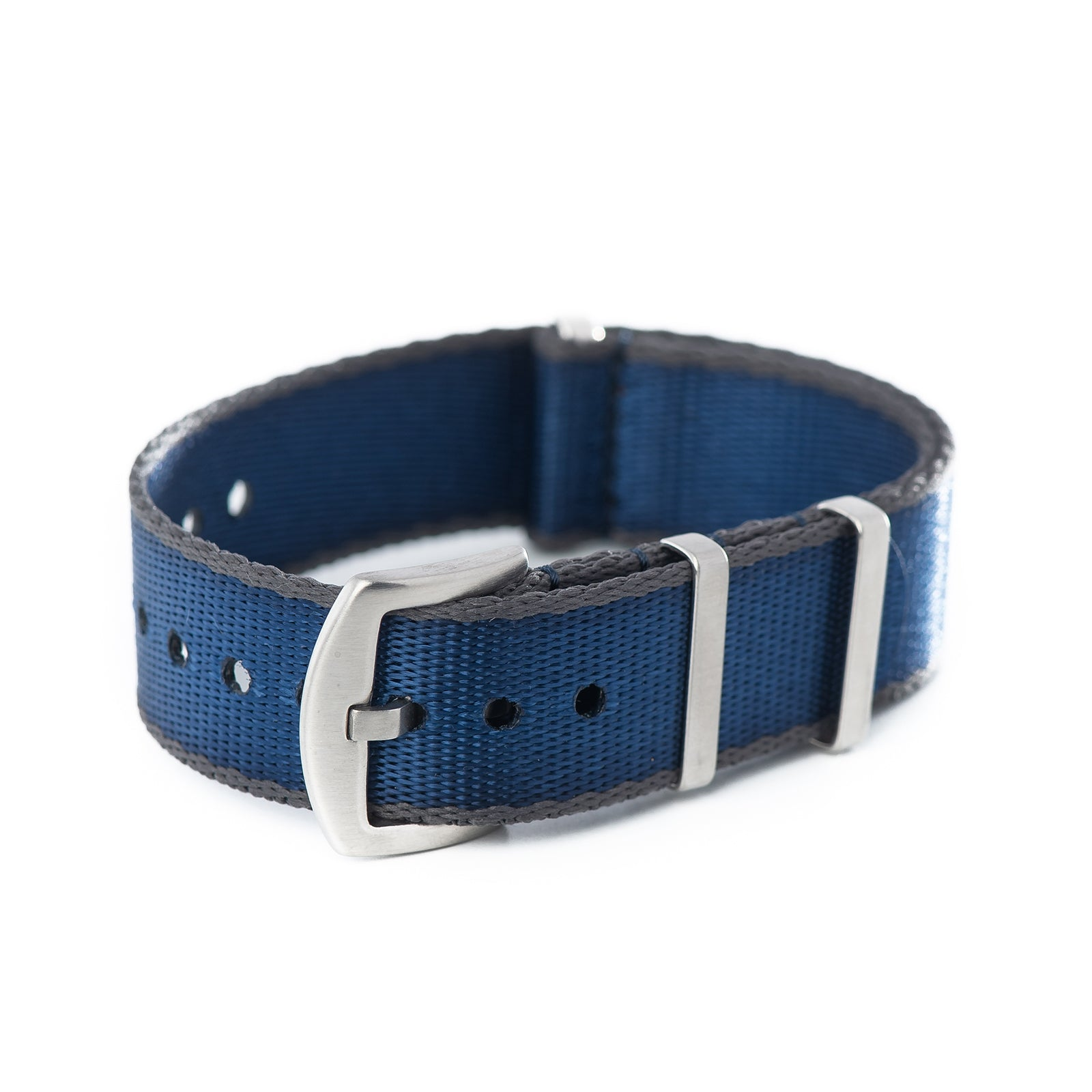 20mm 22mm Premium Seat Belt Nylon NATO Watch Strap - Navy Grey
