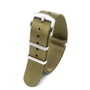Premium Seat Belt Nylon NATO Watch Strap - Olive Green