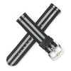 Quick Release Premium Seat Belt Nylon NATO Watch Strap - Black Grey [James Bond]