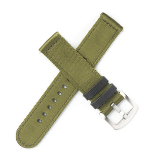 Quick Release Premium Seat Belt Nylon NATO Watch Strap - Green