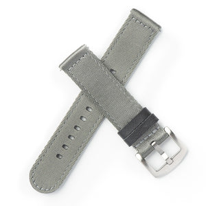 Quick Release Premium Seat Belt Nylon NATO Watch Strap - Grey