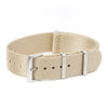[NEW] SLIM Seat Belt Nylon Watch Strap - Light Beige