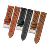 20mm 22mm Quick Release Rally Racing Leather Watch Strap